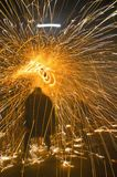 Fire Festival of the Catalonian Regions Stock Images