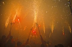 Fire Festival of the Catalonian Regions Stock Image