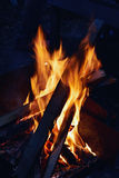 The fire and the fiery coals. Royalty Free Stock Images