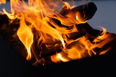 Into the Fire royalty free stock photo