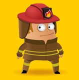 Fire fighter. In uniform. Vector illustration Royalty Free Stock Photography