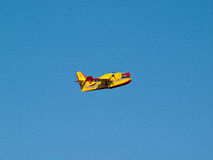 Fire fighter airplane flying Royalty Free Stock Image