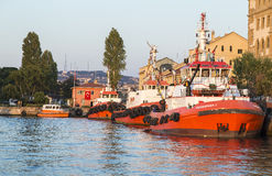 Fire fighter boat Stock Images