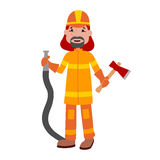 Fire fighter cartoon vector. Stock Images