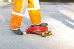 Fire fighter equipment Royalty Free Stock Photo