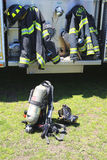 Fire fighter gear Stock Photos