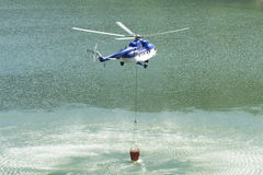 Fire Fighter helicopter Royalty Free Stock Photo
