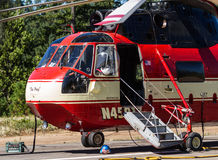Fire fighter helicopters Royalty Free Stock Images