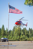 Fire fighter helicopters Stock Photography