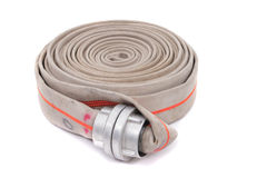 Fire fighter hose Royalty Free Stock Photos