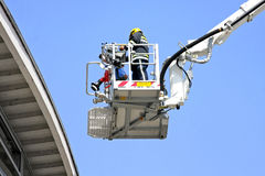 Fire fighter platform Stock Image