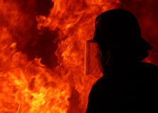 Fire fighter silhouettes 4 Royalty Free Stock Photos