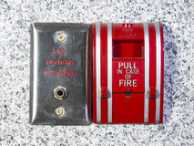 Fire fighter telephone Royalty Free Stock Images