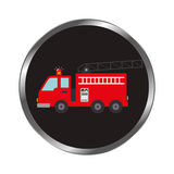 Fire fighter truck icon. Vector illustration design Royalty Free Stock Image