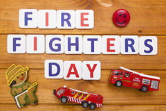 Fire fighters day. Firefighters Day - the international day of fire, is celebrated in many countries around the world Stock Photo