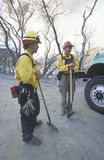 Fire fighters, Los Angeles Padres National Forest, California Stock Photos