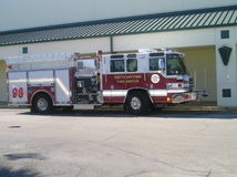 Fire Fighters Truck Stock Photo