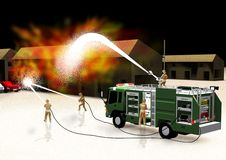 Fire fighting Stock Photos