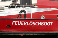 Fire-fighting boat from Germany Royalty Free Stock Photography