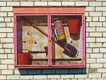 Fire fighting box Royalty Free Stock Photography