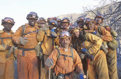 Fire fighting crew stock images