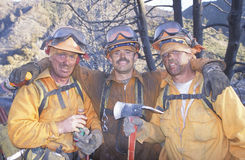 Fire fighting crew Royalty Free Stock Images
