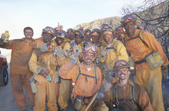 Fire fighting crew, Los Angeles Padres National Forest, California Royalty Free Stock Image