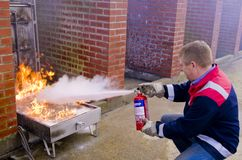 Fire Fighting Demonstration Royalty Free Stock Photos