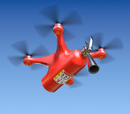 Fire fighting drone Stock Photo