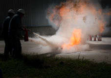 Fire fighting Royalty Free Stock Photo