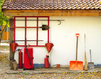 Fire fighting equipment. Royalty Free Stock Photos