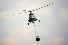 Fire fighting helicopter Stock Photo