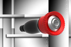 Fire fighting nozzle Royalty Free Stock Photos
