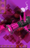 Fire fighting nozzle. Digital illustration of fire fighting nozzle in colour background Stock Photography