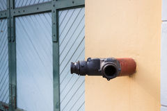 Fire Fighting Nozzle Safety In Public Royalty Free Stock Photos