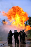 Fire fighting training. Stock Images