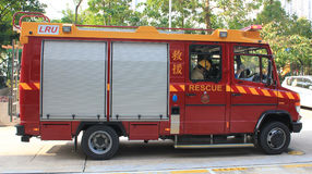 Fire fighting truck in hong kong Royalty Free Stock Photos