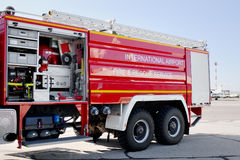 Fire-fighting vehicle Stock Photo