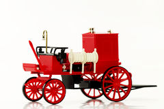 Fire fighting vehicle. One modell fire fighting vehicle on white background stock images