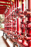fire fighting water supply pipeline system Stock Image