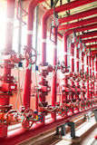 Fire fighting water supply pipeline system Royalty Free Stock Photo