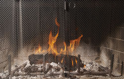 Fire & Fire Place Royalty Free Stock Photo