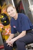 fire firefighter locker room station στοκ φωτογραφία