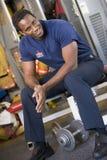 fire firefighter locker room station στοκ φωτογραφίες