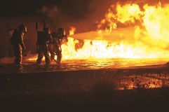 Fire, Firefighters, Firemen Royalty Free Stock Images
