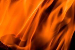 Fire in a fireplace Royalty Free Stock Photography