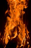 Fire in a Fireplace. Burning bright Stock Image