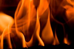 Fire in a fireplace Stock Photos