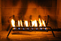Fire in the fireplace Royalty Free Stock Photography