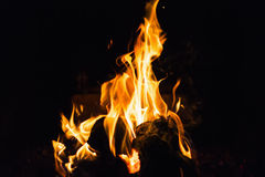 Fire in fireplace. Fire and flame  in fireplace Stock Photo